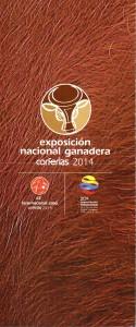 BROCHURE FERIA GANADERA CORFERIAS 2014