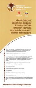 BROCHURE FERIA GANADERA CORFERIAS 2014 2